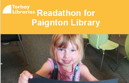 From 1-21st March ask friends and family to sponsor you per book or per minute you read. Every penny raised will go towards funding library services. Help our libraries thrive. We'll celebrate with our Readthon day with guest readers all day, activities and a bake sale.