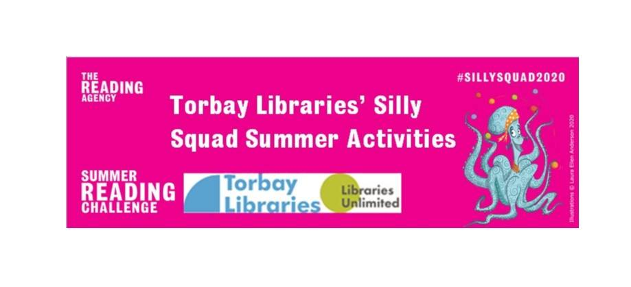 A programme of Silly Squad events featuring stories and crafts to accompany The Reading Agency's Summer Reading Challenge....#SummerReadingChallenge #SillySquad2020 For videos of the story and craft head to: <a href='https://www.facebook.com/events/591612328127390/'>Silly Squad, Silly Faces</a>